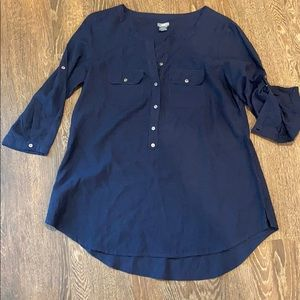 Arrive navy tunic